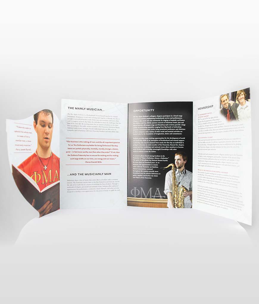 die cut recruitment brochures sinfonia store