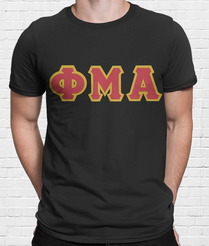 greek letter shirts letter t shirt sinfonia 13929 | Greek Letter T Shirt Black Front