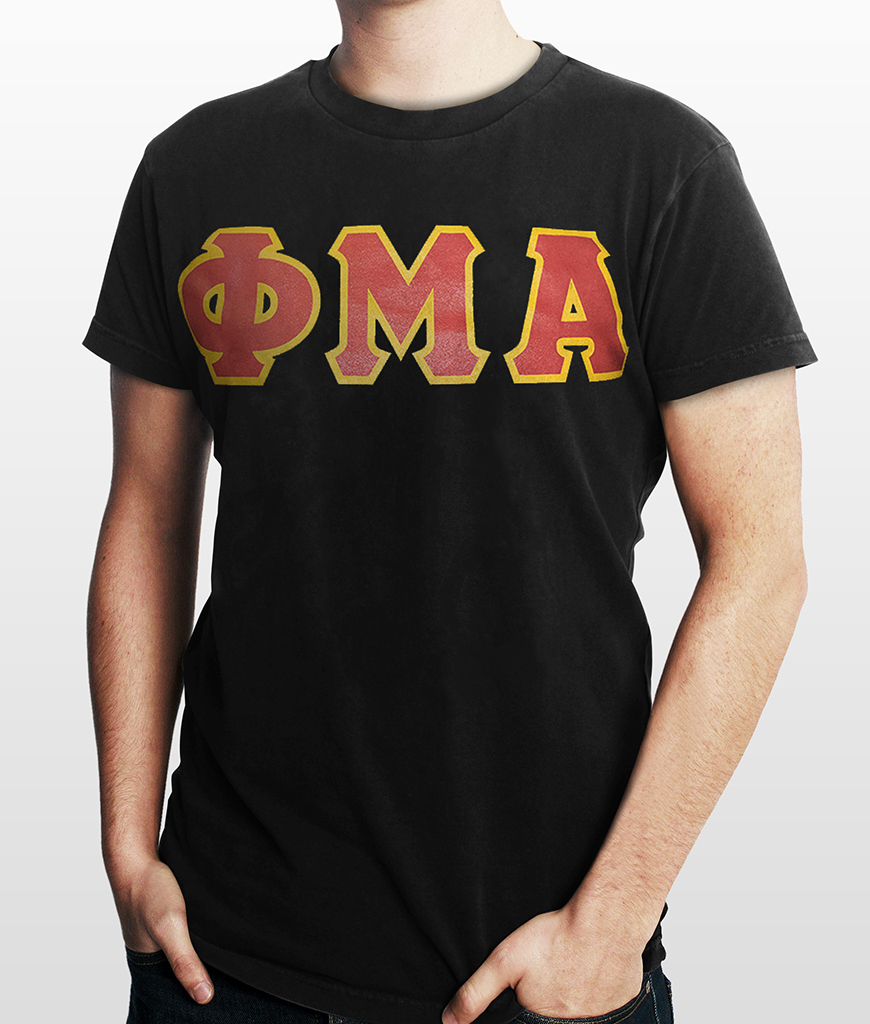 greek letters shirts letter t shirt sinfonia 13920 | Greek Letter T Shirt Black