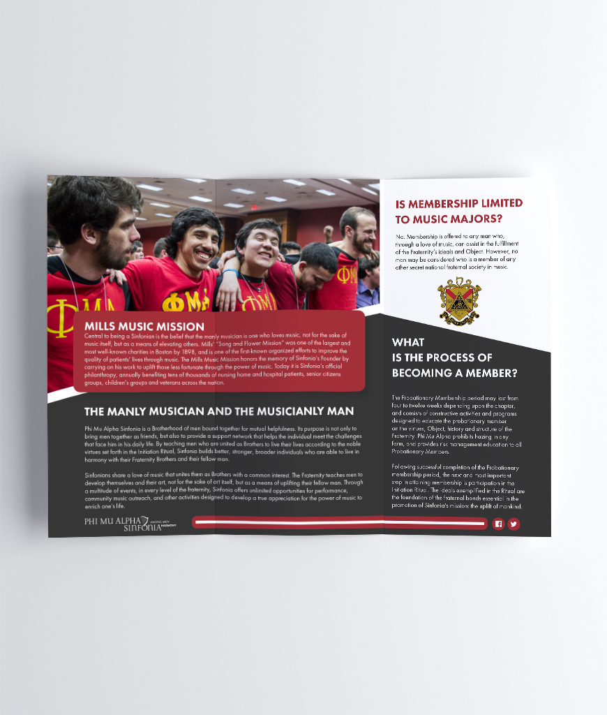 tri fold recruitment brochures sinfonia store